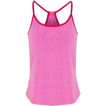 Textil Mulher Tops / Blusas Tridri TR043 Melange Rosa/ Rosa Quente