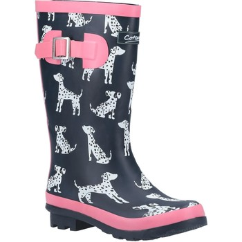 Sapatos Rapariga Botas de borracha Cotswold  Marinha/Rosa