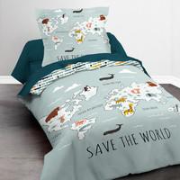 Casa Rapaz Conjunto de roupa de cama Today KOOL 1.1 Azul