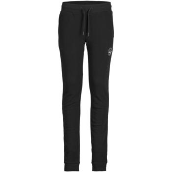 Textil Rapaz Calças de treino Jack & Jones 12182767 JJIGORDON JJSHARK SWEAT PANTS AT JR BLACK Negro