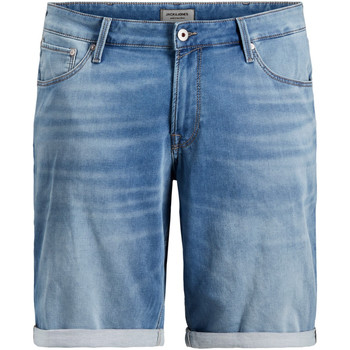Textil Homem Shorts / Bermudas Jack & Jones 12167648 JJIRICK JJICON GE 003 I.K STS PS BLUE DENIM Azul claro
