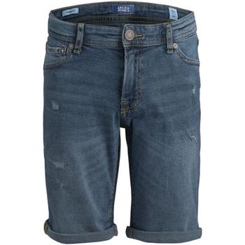 Textil Rapaz Shorts / Bermudas Jack & Jones 12183128 JJIRICK JJORIGINAL SHORTS NA 036 JR BLUE DENIM Azul