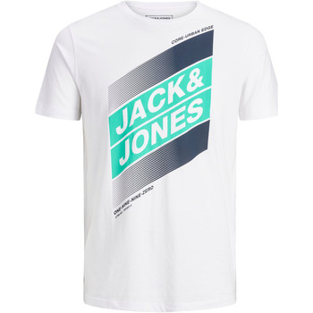 Textil Rapaz T-Shirt mangas curtas Jack & Jones 12184840 JCODEFENDER TEE SS CREW NECK FST JR WHITE Blanco