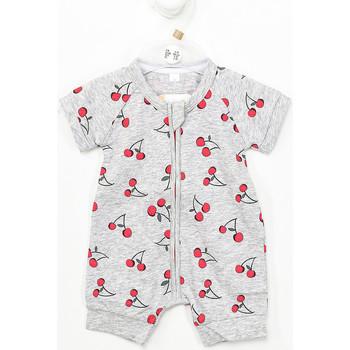 Textil Criança Macacões/ Jardineiras DIM Pelele manga corta con cremallera Cinza
