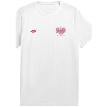 Textil Homem T-Shirt mangas curtas 4F TSM950 Branco