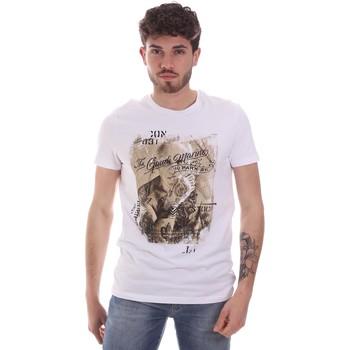 Textil Homem T-Shirt mangas curtas Gaudi 111GU64091 Branco