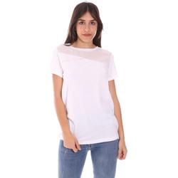 Textil Mulher T-Shirt mangas curtas Ea7 Emporio Armani 3KTT34 TJ4PZ Branco