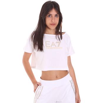 Textil Mulher T-Shirt mangas curtas Ea7 Emporio Armani 3KTT03 TJ28Z Branco