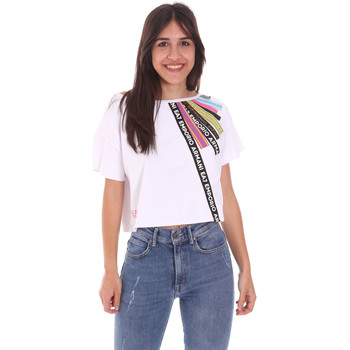 Textil Mulher T-Shirt mangas curtas Ea7 Emporio Armani 3KTT40 TJ39Z Branco