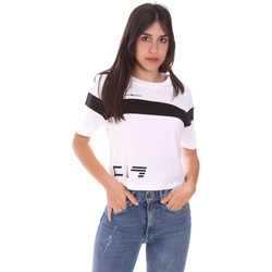 Textil Mulher T-Shirt mangas curtas Ea7 Emporio Armani 3KTT05 TJ9ZZ Branco