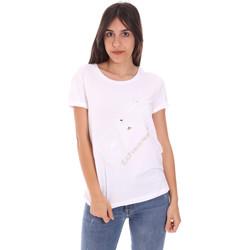 Textil Mulher T-Shirt mangas curtas Ea7 Emporio Armani 3KTT28 TJ12Z Branco