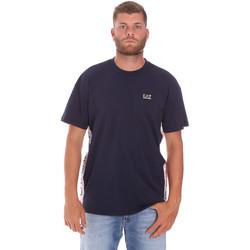 Textil Homem T-Shirt mangas curtas Ea7 Emporio Armani 3KPT13 PJ02Z Azul