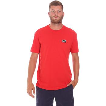 Textil Homem T-Shirt mangas curtas Ea7 Emporio Armani 3KPT63 PJ6EZ Vermelho