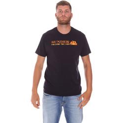 Textil Homem T-Shirt mangas curtas Sundek M049TEJ7800 Preto