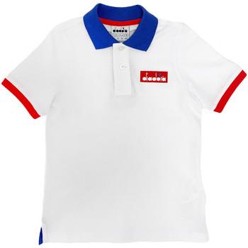 Textil Criança Polos mangas curta Diadora 102175907 Branco