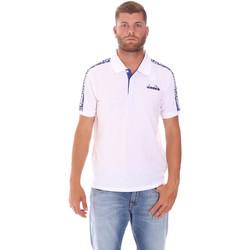 Textil Homem Polos mangas curta Diadora 102175672 Branco