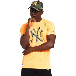 Textil Homem T-Shirt mangas curtas New-Era 12369840 Laranja