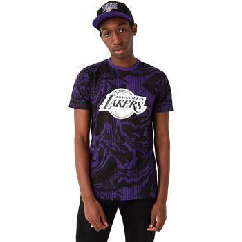 Textil Homem T-Shirt mangas curtas New-Era 12720128 Preto
