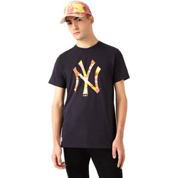 Textil Homem T-Shirt mangas curtas New-Era 12720165 Preto