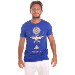Textil Homem T-Shirt mangas curtas Roberto Cavalli HST65B Azul