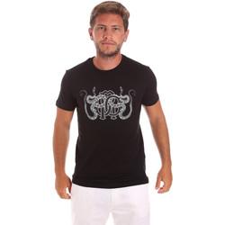 Textil Homem T-Shirt mangas curtas Roberto Cavalli HST66B Preto
