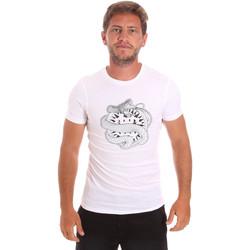 Textil Homem T-Shirt mangas curtas Roberto Cavalli HST64B Branco