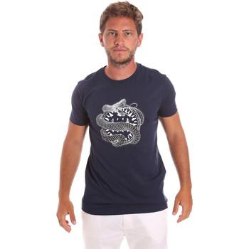 Textil Homem T-Shirt mangas curtas Roberto Cavalli HST64B Azul