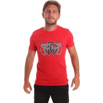 Textil Homem T-Shirt mangas curtas Roberto Cavalli HST66B Vermelho