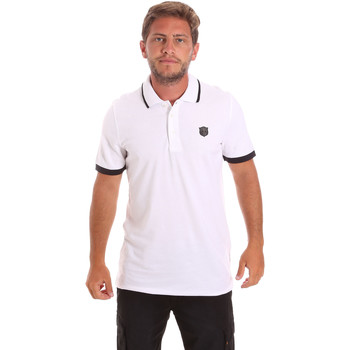 Textil Homem Polos mangas curta Roberto Cavalli FST692 Branco