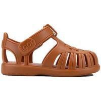 Sapatos Criança Sandálias IGOR Sandálias Bebé Toby Solid Caramelo Castanho