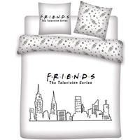 Casa Criança Capa de edredão Friends 63788 Blanco