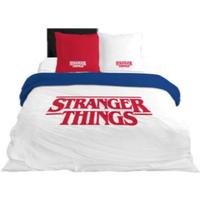 Casa Criança Capa de edredão Stranger Things 64112 Blanco