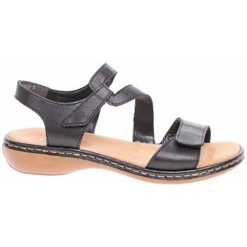Sapatos Mulher Sandálias Rieker 659C700 Preto