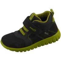 Sapatos Criança Sapatilhas de cano-alto Superfit SPORT7 Mini Preto, Verde azeitona
