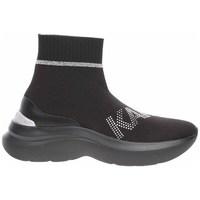 Sapatos Mulher Sapatilhas de cano-alto Karl Lagerfeld KL61855 Preto
