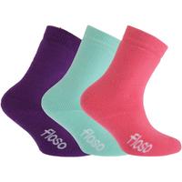 Roupa de interior Rapariga Meias de desporto Floso  Rosa/Púrpura/Teal