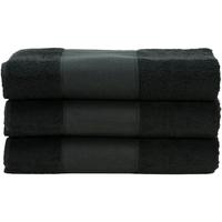Casa Toalha e luva de banho A&r Towels 50 cm x 100 cm Preto