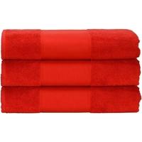Casa Toalha e luva de banho A&r Towels 50 cm x 100 cm Vermelho Fogo