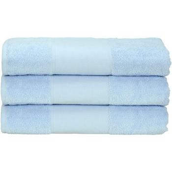 Casa Toalha e luva de banho A&r Towels 50 cm x 100 cm Azul claro