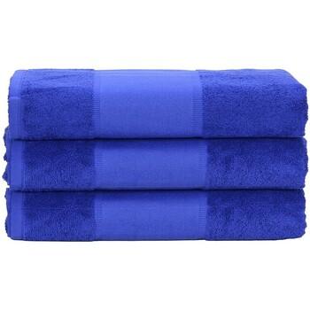 Casa Toalha e luva de banho A&r Towels 50 cm x 100 cm Azul Verdadeiro