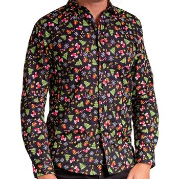Textil Homem Camisas mangas comprida Christmas Shop CS001 Sortido Negro