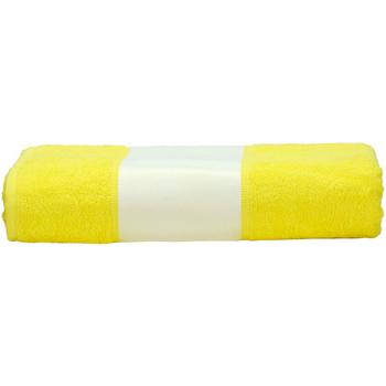 Casa Toalha e luva de banho A&r Towels 50 cm x 100 cm Amarelo Brilhante