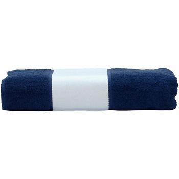 Casa Toalha e luva de banho A&r Towels 50 cm x 100 cm marinha francesa