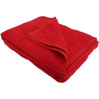 Casa Toalha e luva de banho Sols Taille unique Vermelho