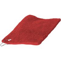 Casa Toalha e luva de banho Towel City 30 cm x 50 cm Vermelho