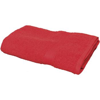 Casa Toalha e luva de banho Towel City Taille unique Vermelho