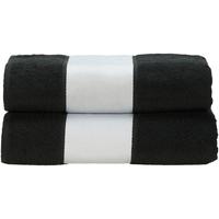 Casa Toalha e luva de banho A&r Towels Taille unique Preto