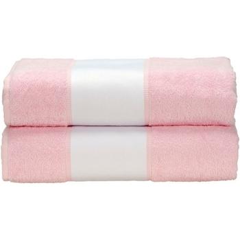 Casa Toalha e luva de banho A&r Towels Taille unique Rosa claro