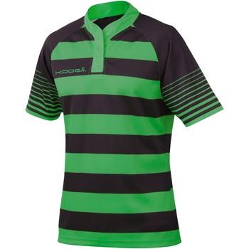 Textil Rapaz T-Shirt mangas curtas Kooga K106B Preto / Verde Esmeralda