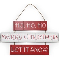 Casa Decorações festivas Christmas Shop Taille unique (59 x 36 cm) Vermelho / Branco
